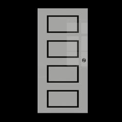 Drzwi Szklane Przesuwne 1050X2095 8MM ESG GEO12 + KASETA