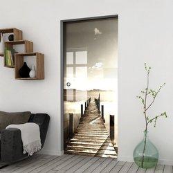 Drzwi Szklane Przesuwne 65 GR-H04 KASETA