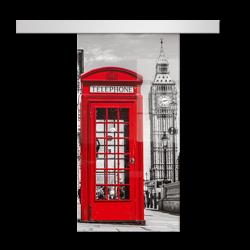 Drzwi Szklane Przesuwne 650X2095 8MM ESG/VSG GRAFIKA 2STR GR-H01 + SYSTEM PRZESUWNY