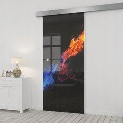 Drzwi Szklane Przesuwne 75 GR-H31 SILVER