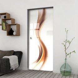Drzwi Szklane Przesuwne 750 GR-H012 KASETA