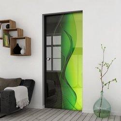 Drzwi Szklane Przesuwne 85 GR-H016 KASETA