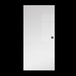 Drzwi Szklane Przesuwne 85 VSG BIAŁE FLOAT KASETA