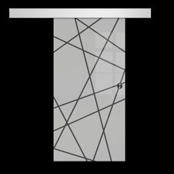 Drzwi Szklane Przesuwne 95 GEO6 SILVER