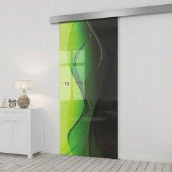 Drzwi Szklane Przesuwne 95 GR-H016 SILVER