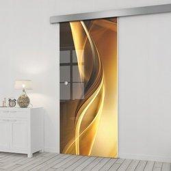 Drzwi Szklane Przesuwne 95 GR-H029 SILVER