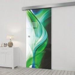 Drzwi Szklane Przesuwne 95 GR-H08 SILVER