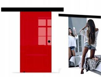 Drzwi Szklane Przesuwne BLACK DESIGN 750X2095 8MM