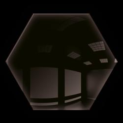 Kafelek lustrzany 183x160 Heksagon 4mm Szlif Poler Czarne