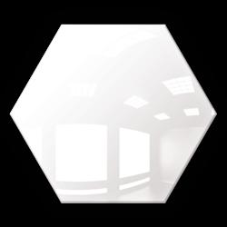 Kafelek lustrzany 183x160 hexagon 4mm Szlif Poler Białe