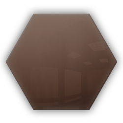 Kafelek lustrzany 25X21,6 Heksagon 4mm Szlif Poler Brąz
