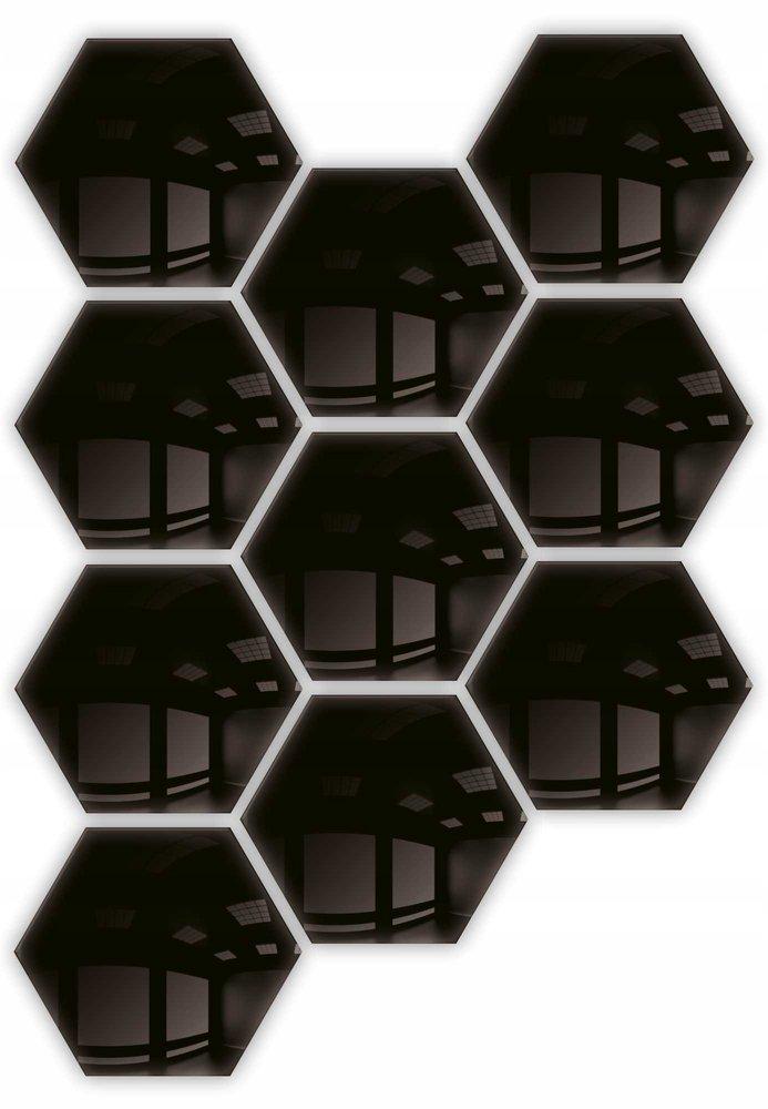 Lustro - dekoracyjne hexagon samoprzylepne 10szt 183x160mm