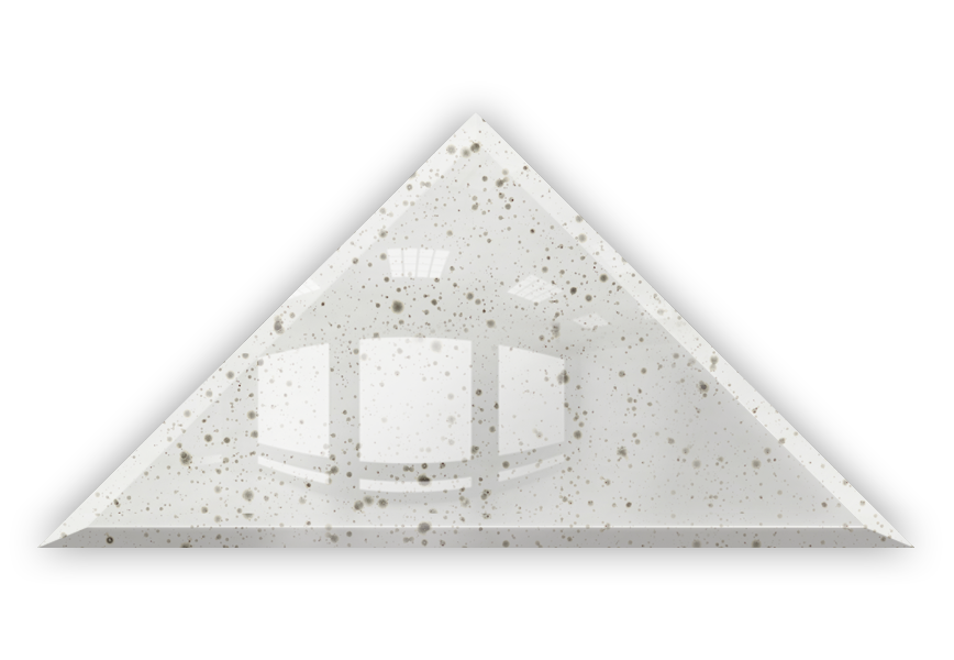 Płytka Lustrzana - 30x30X42 4MM Faza DG2 Silver Trójkąt