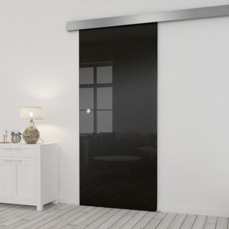 Drzwi Szklane Przesuwne 65 ESG/VSG CZARNE SILVER