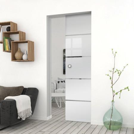 Drzwi Szklane Przesuwne 65 GEO11 KASETA