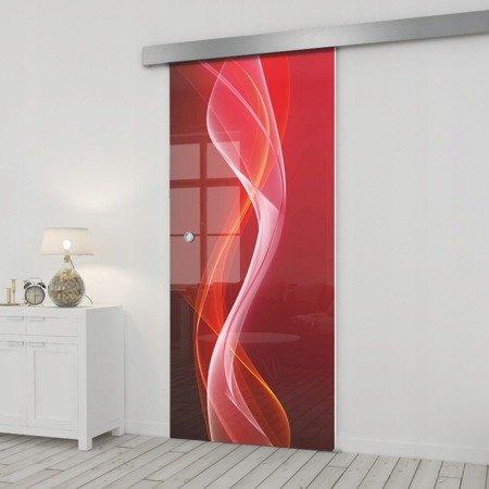 Drzwi Szklane Przesuwne 65 GR-H026 SILVER