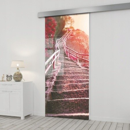 Drzwi Szklane Przesuwne 75 GR-H010 SILVER