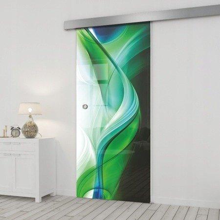Drzwi Szklane Przesuwne 85 GR-H08 SILVER