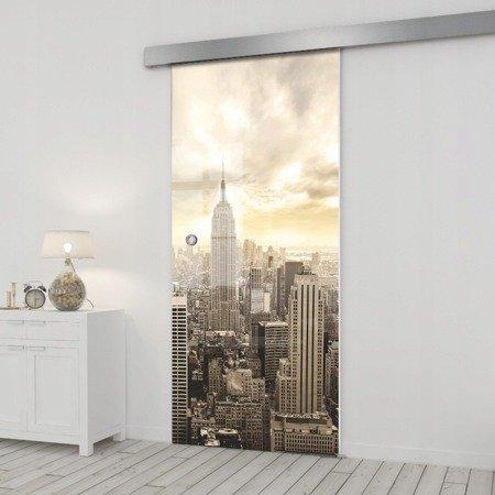 Drzwi Szklane Przesuwne 95 GR-H09 SILVER