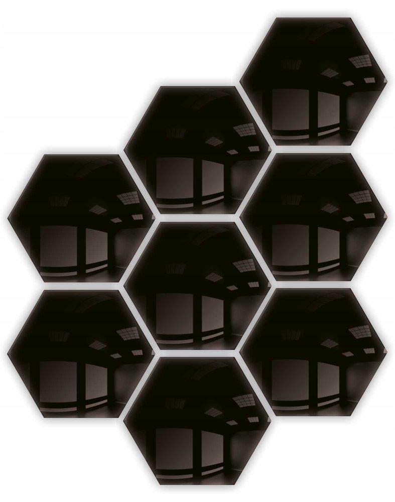 Lustro - dekoracyjne hexagon samoprzylepne 8szt 183x160mm