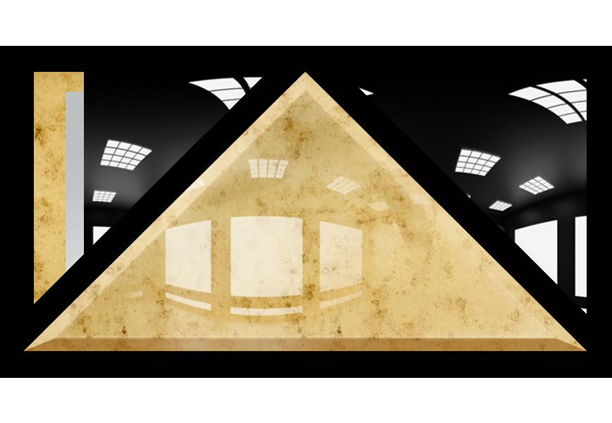 Płytka Lustrzana - 30x30X42 4MM Faza AG1 Gold Trójkąt